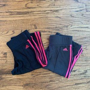 2 Adidas long shorts NWOT